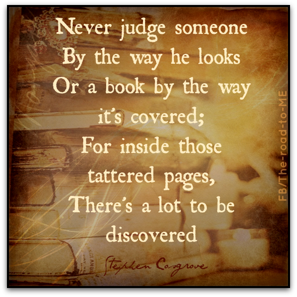 Food Book Cover Quote ~ Don t judge a book by its cover bound escape