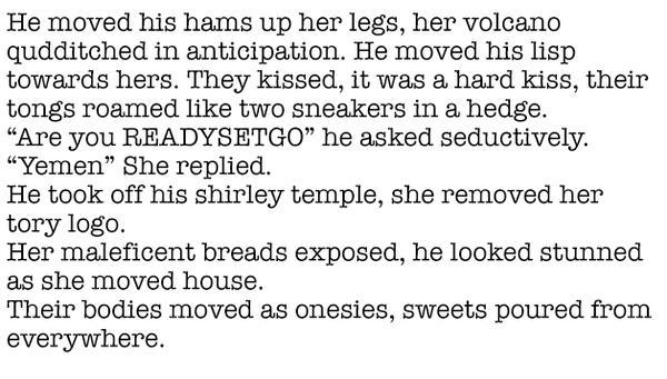 Erotic novel excepts