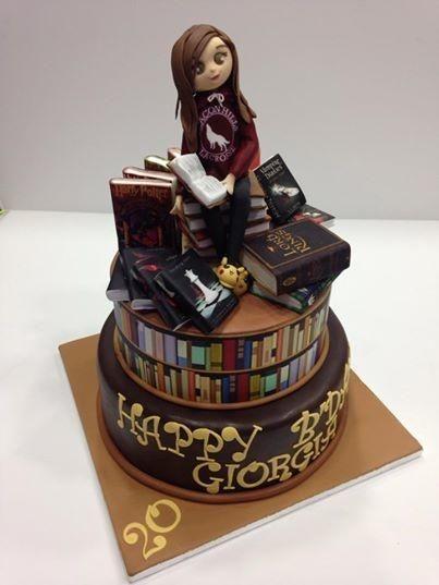 Outstanding Happy Birthday Book Cake Bound 4 Escape Personalised Birthday Cards Xaembasilily Jamesorg